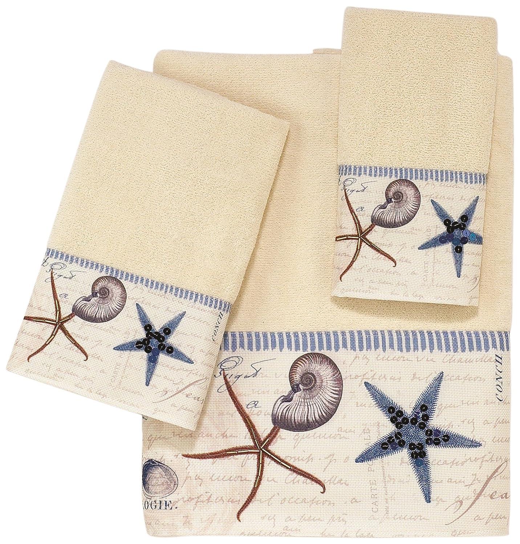 Avanti Linens AntiguaEmbellished 4-Piece Decorative Towel Set Ivory