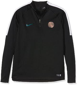 Nike Kinder Paris Saint-Germain Y Dril Top Squad Fußballoberteil mit  Kurzreißverschluss, Schwarz/