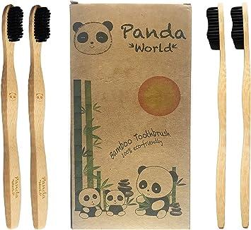 Cepillo Dientes Bambu ♻ 4 Cepillos de Dientes Ecologicos - Cepillos de Bambú Desechables, Cerdas Naturales con Carbon Activado (Blanqueador dental), Bambu Reciclable y Biodegradable - Eco,Bio, Sin BPA: Amazon.es: Salud y