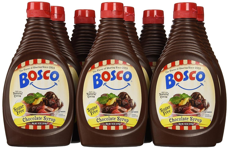 Amazon.com : Bosco Syrup, Sugar Free Chocolate, 18 Ounce (Pack of ...