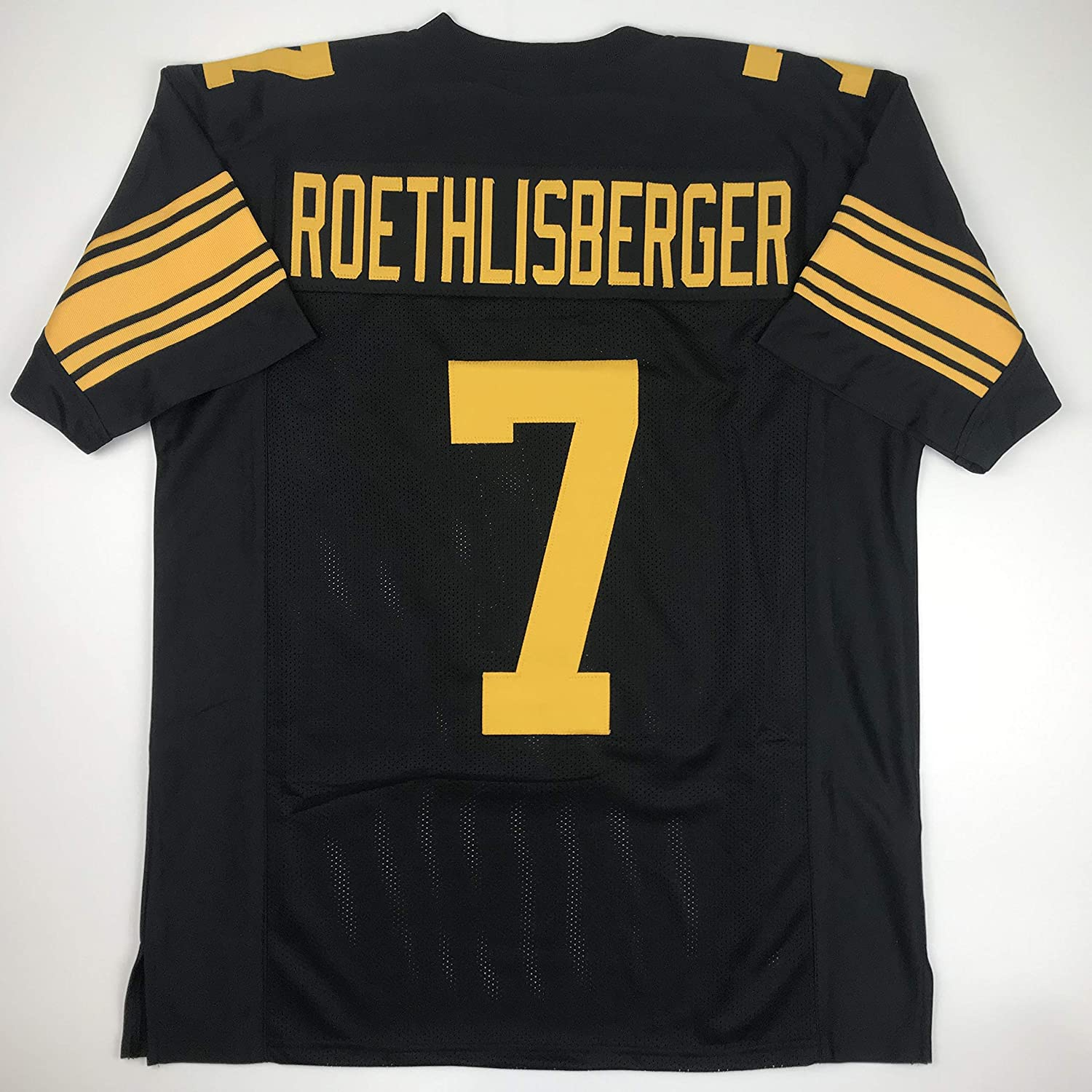 cde3d32dbfd Amazon.com  Unsigned Ben Roethlisberger Pittsburgh Color Rush Custom  Stitched Football Jersey Size Men s XL New No Brands Logos  Sports  Collectibles
