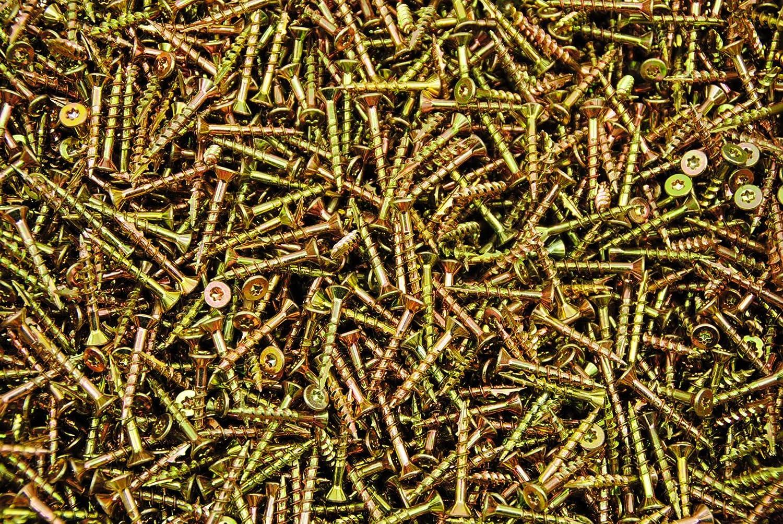1000 Torx T20 Star Flat Head 8 x 1-1//4 Yellow Zinc Type 17 Outdoor Wood Screw