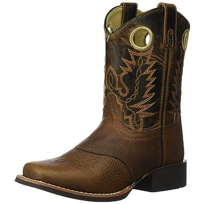 Smoky Mountain Kids Luke Square Toe Boots 3.5: Clothing