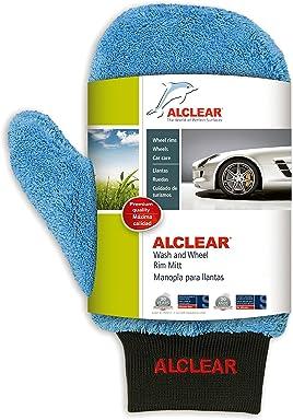 ALCLEAR 950013 Ultra-Microfiber professional scratch free Wheel Rim Mitt, blue with black cuff