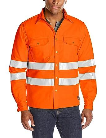 bb3088f3a8 Amazon.com  JOBMAN Workwear Men s Hi-vis Quilted Work Shirt  Clothing