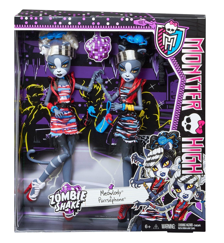 Mattel Monster High BJR16 - Zombie Shake Meowlody und Purrsephone ...