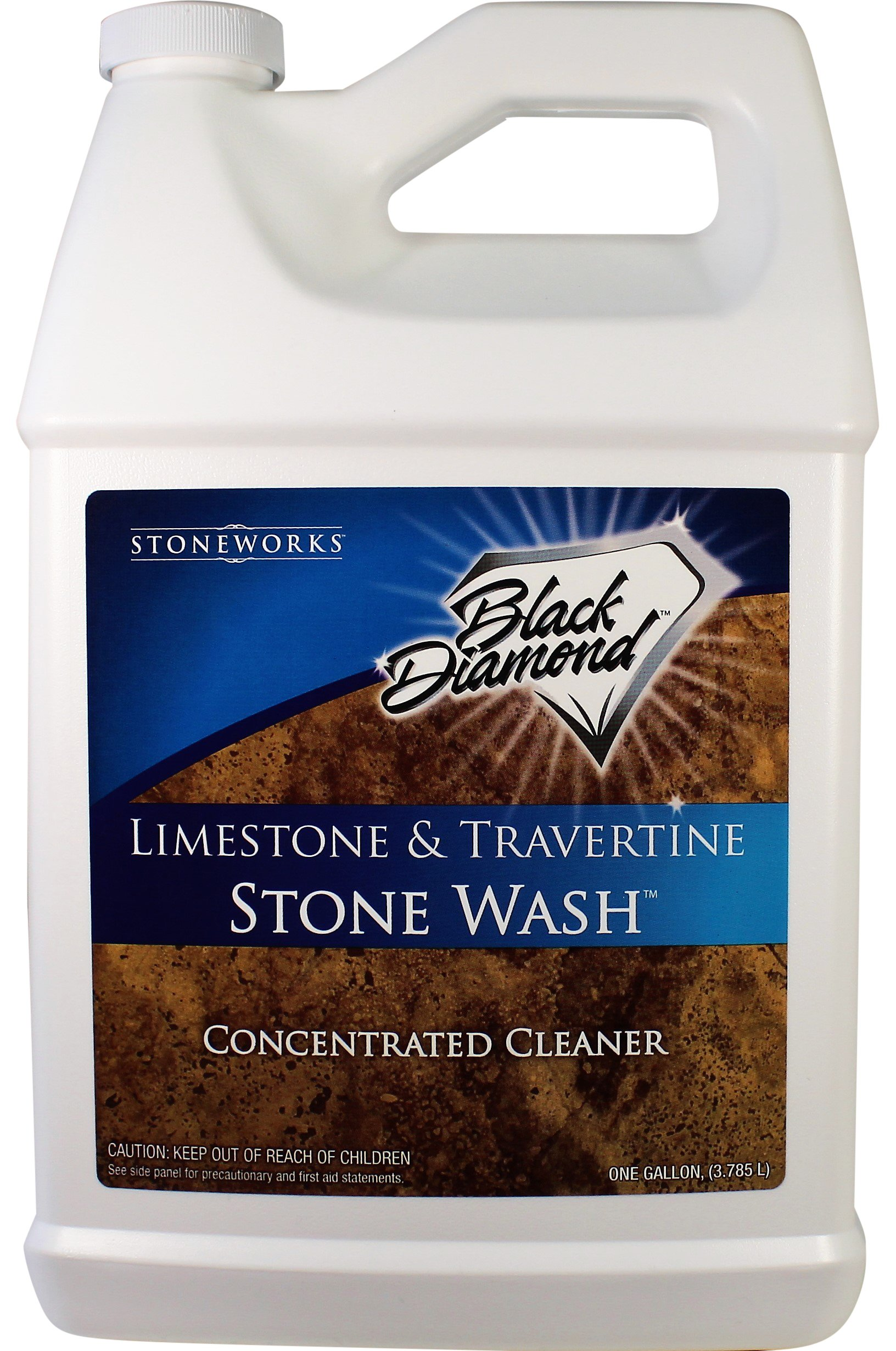 Black Diamond Stoneworks Limestone and Travertine Floor Cleaner: Natural Stone, Marble, Slate Ph Neutral 1 Gallon Concentrate