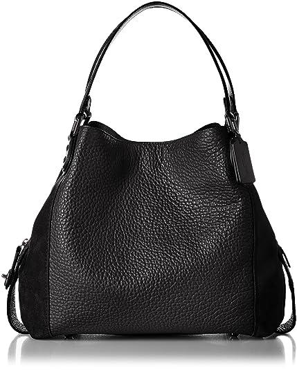 3727b1d9e43ff7 Coach Edie Leather Shoulder Bag One Size Dark Fatigue: Amazon.co.uk ...