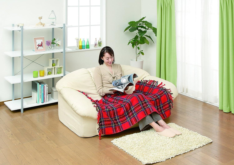 椙山紡織 日本製 電気ひざ掛け レッド 140 × 82 cm