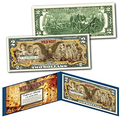 WILD WEST Outlaws Gunfighters Old West Black Eagle Jesse James Genuine $2 Bill: Everything Else