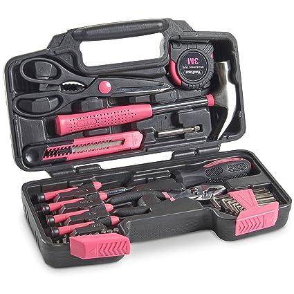 VonHaus 39Pc - Juego de herramientas para el hogar y el taller (incluye caja de