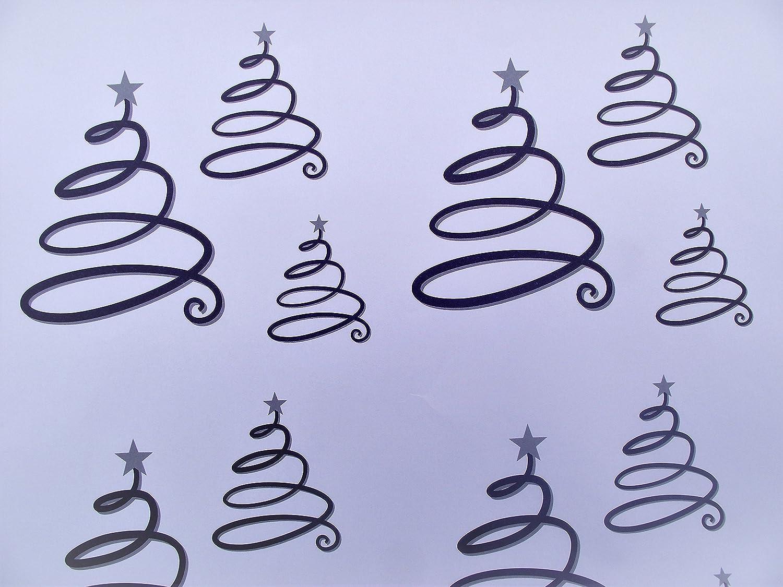/Snowflake/ /contemporanea Natale carta da regalo/ 10/fogli di moderno/ /Bagattelle/ /Renna e 5/etichette regalo /Albero di Natale/ /stelle/ 2/f