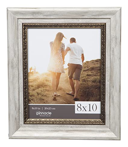Amazon.com: GALLERY SOLUTIONS 8x10 White Wash Wall Picture Frame ...