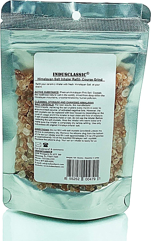 IndusClassic Himalayan Salt for Ceramic Inhaler or Neti Pot Refill Asthma Allergy Sinus: Health & Personal Care