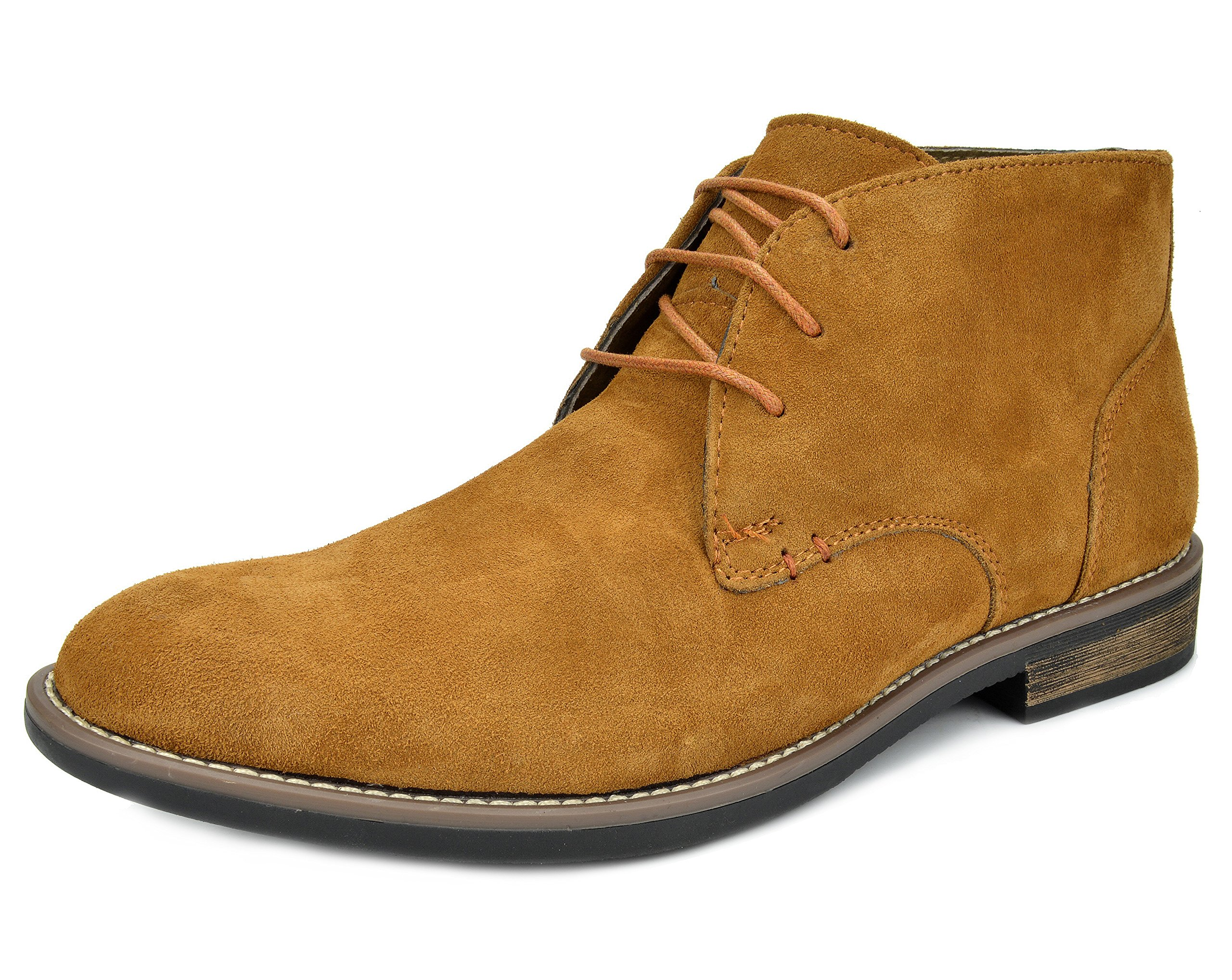 BRUNO MARC NEW YORK Bruno Marc Men's URBAN-01 Camel Suede Leather Lace Up Oxfords Desert Boots - 10 M US