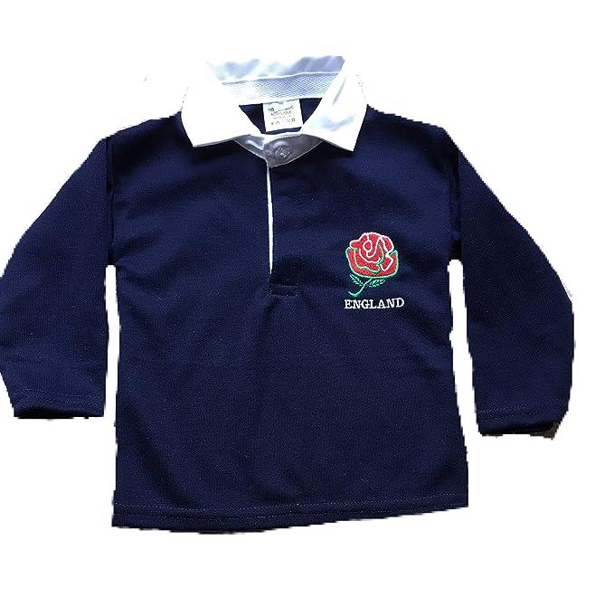 Camisas de Rugby inglesas de Manga Completa para niños de 0 a 3 ...