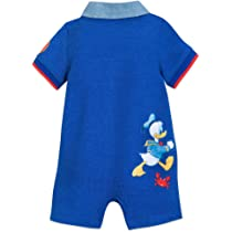 41c79cf48 Disney Mickey Mouse and Donald Duck Romper for Baby Size 0-3 MO Multi ...
