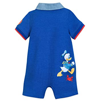 043f2c4fc Image Unavailable. Image not available for. Color: Disney Mickey Mouse and  Donald Duck Romper for Baby Size 18-24 MO Multi