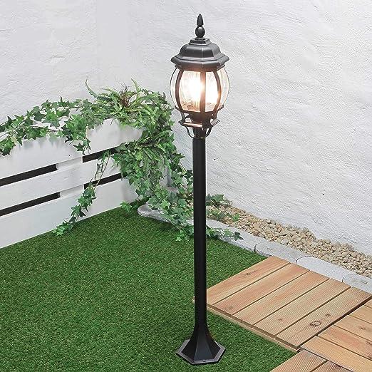 Brest - Lámpara de pie para exteriores (E27, hasta 60 W, 230 ...