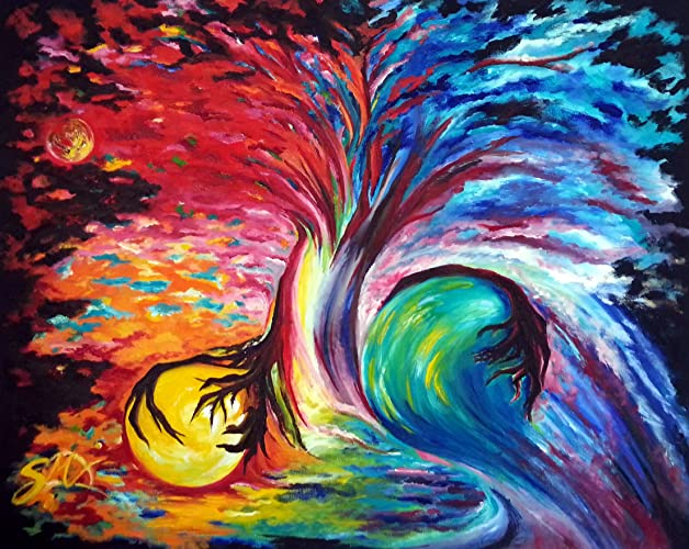 Amazon.com: Original Oil Large Painting Modern Art sale, Wall Art ...