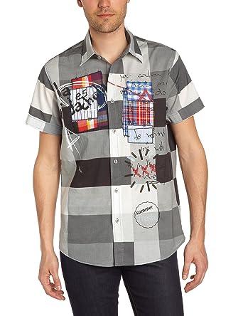 Desigual Alberto, Camisa para Hombre, Blanco 1000 S: Amazon.es ...