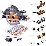 Evolution Power Tools R185CCSX 7-1/4 pulgadas Sierra circular de múltiples materiales con pista de 40 pulgadas