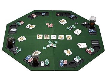 Table De EsecureTapis PokerpliablesPour Joueurs 8 Avec Et Des Porte Jetons Boissons Plateau PZukwOXiT