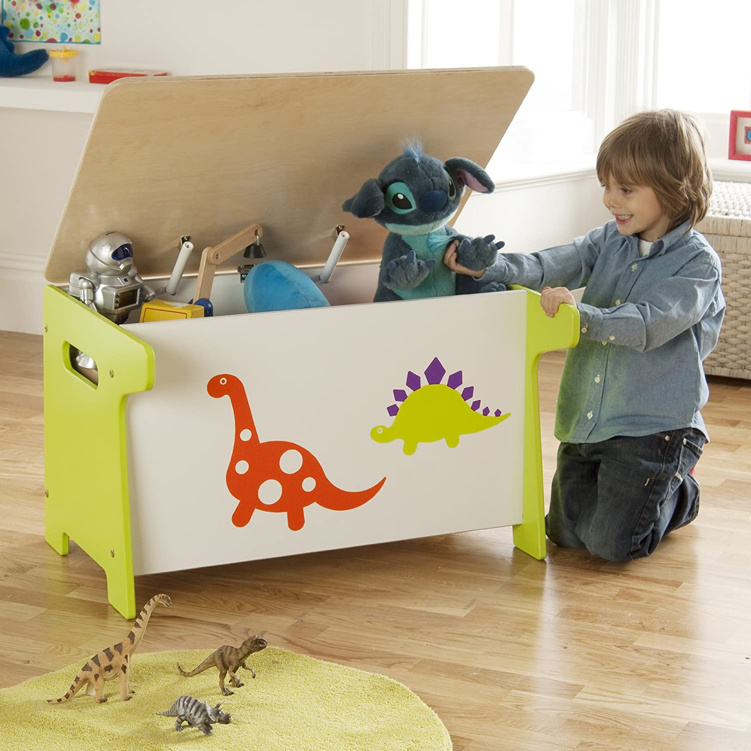 Millhouse Children s Dinosaur Toy Box and Desk Amazon