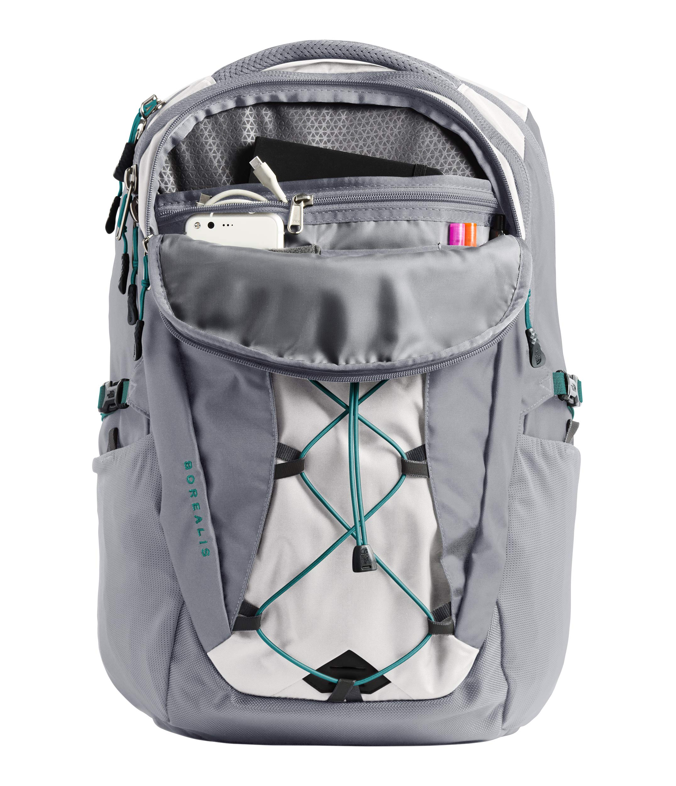 The North Face Women's Borealis Laptop Backpack - 15'' (Tin Grey/Mid Grey) by The North Face (Image #2)