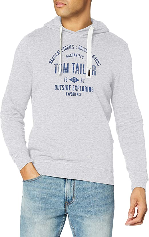 TALLA S. Tom Tailor Print Sudadera con Capucha para Hombre