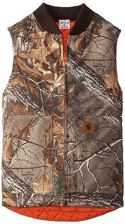 caf3fe255 Carhartt Big Boys' Reversible Camo Vest, Real Tree Xtra, Medium/10/