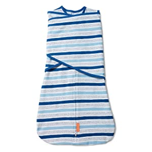 SwaddleMe Arms Free Convertible Swaddle - 1 Pack, Chambray Stripe, 3-6 Months