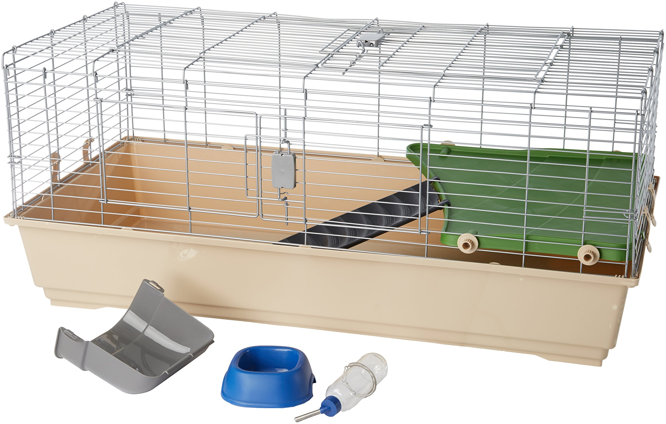 AmazonBasics Small Animal Cage Habitat With Accessories 2