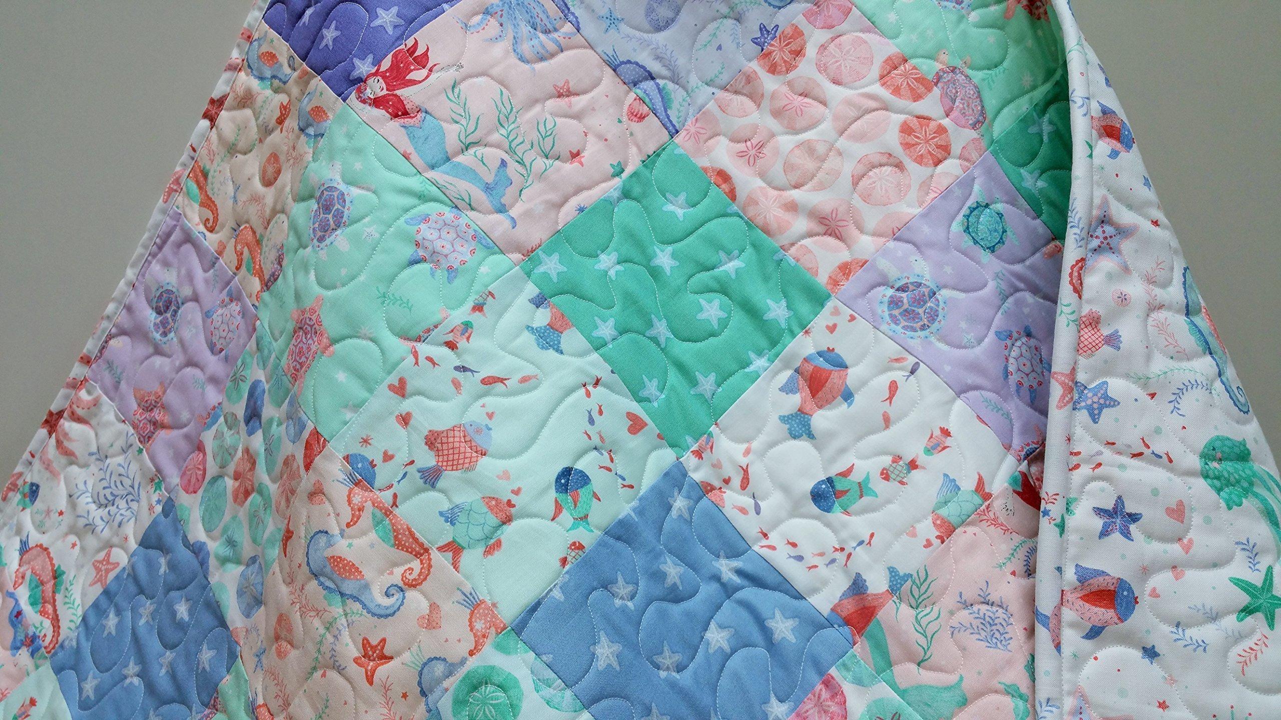 Pastel Nautical Baby Quilt
