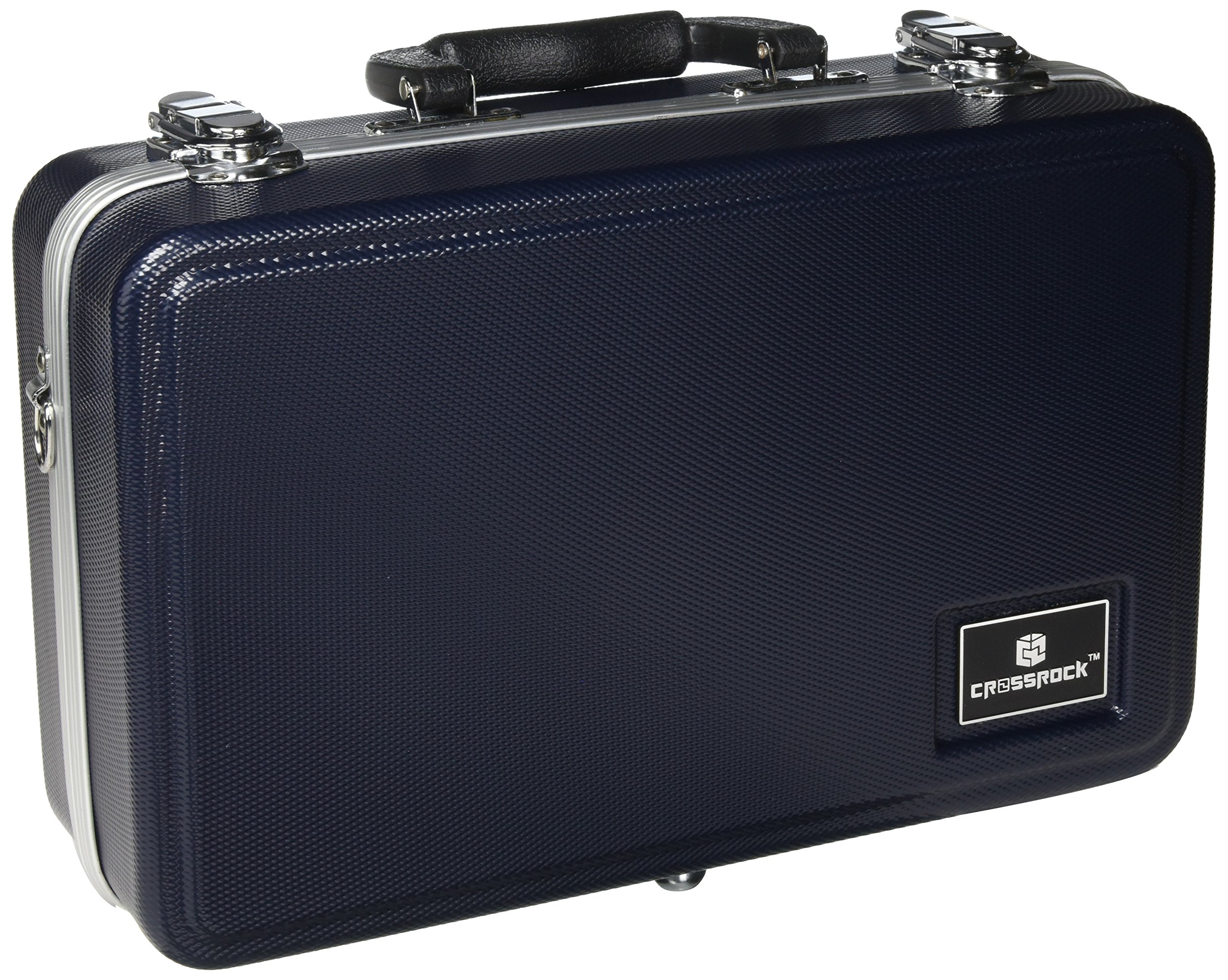 Crossrock CRA860CLBL Clarinet Case ABS Molded Hard Shell in Blue