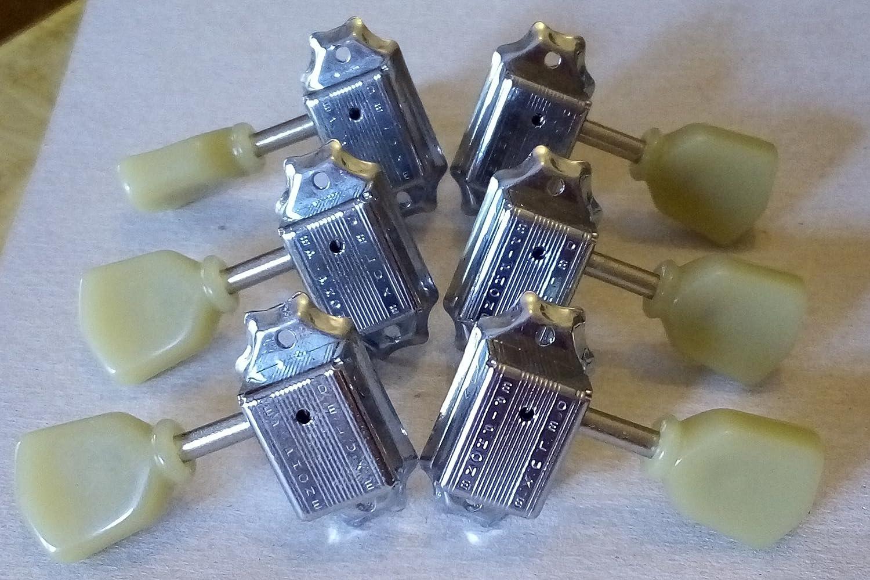 Clavijas Epiphone Deluxe estilo Kluson cromado 3 + 3 Guitarra Eléctrica: Amazon.es: Instrumentos musicales