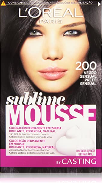 LOreal Paris Sublime Mousse Coloración Permanente 200 Negro Sensual - 200 ml