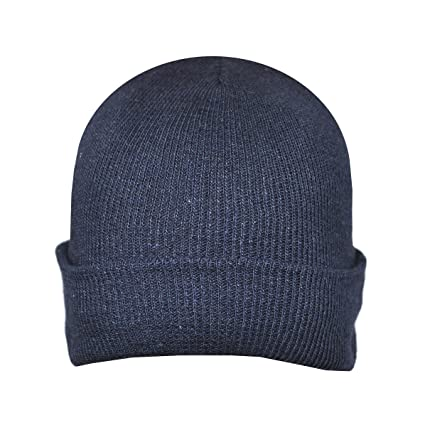 Image Unavailable. Image not available for. Color  Beanie Plain Navy Blue  Winter Ski Woolly Hat 166a440f8e9