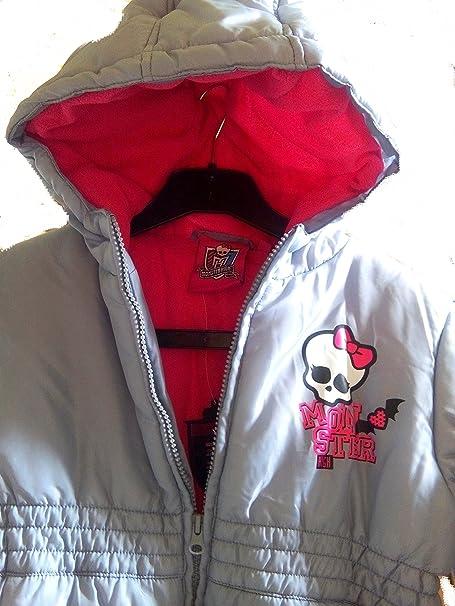 Chaqueta y abrigo para niña, diseño de Monster High, color Gris con capucha de forro polar para niño de 10 años.: Amazon.es: Ropa y accesorios