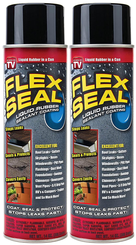 Spray Rubber Seal >> Flex Seal Spray Rubber Sealant Coating 14 Oz Black 2 Pack