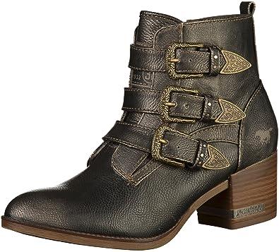 Mustang 1253-502 Femmes Bottine Gris, EU 40  Amazon.fr  Chaussures ... 4a98040a3d96