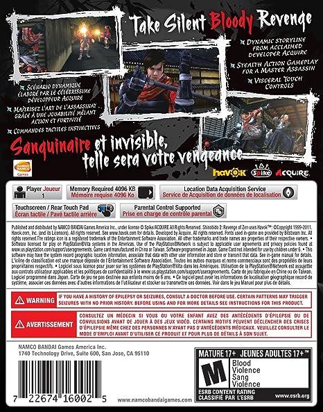 Namco Bandai Games Shinobido 2 - Juego (PS Vita): Amazon.es ...