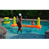 G-Loco Inflatable Pool Volleyball Set and Pool Basketball Hoops; 2 Balls Included, Pool Games for Adults and Family…