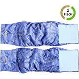 wegreeco Washable Male Dog Diapers (Pack of 2) - Washable Male Dog Belly Wrap