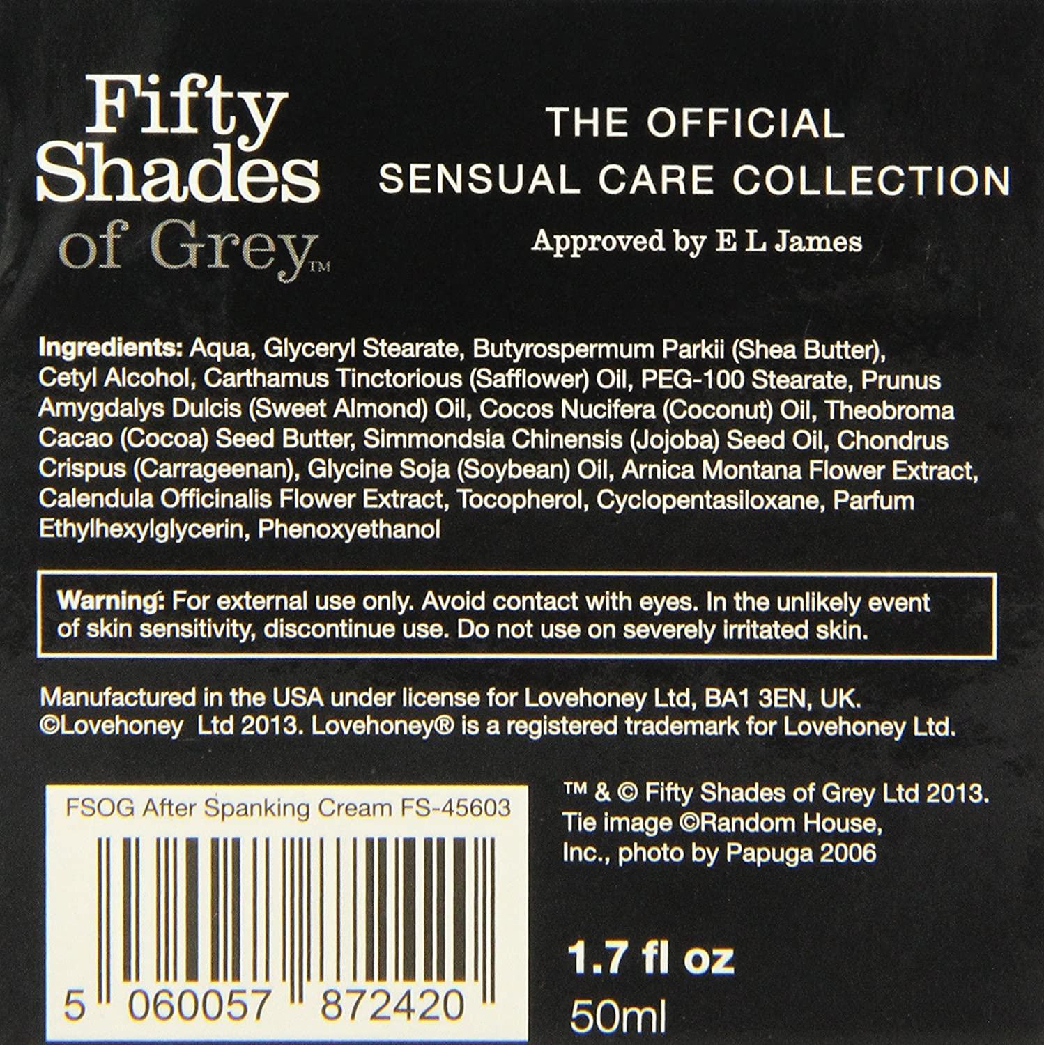 com fifty shades of grey fifty shades of grey soothe me  com fifty shades of grey fifty shades of grey soothe me after spanking cream 1 7 fluid ounce health personal care