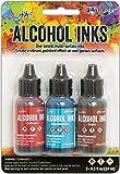 Ranger -Crimson/Aquamarine/Sepia Tim Holtz Alcohol Ink .5oz 3/Pkg, 0.5 oz, Blue
