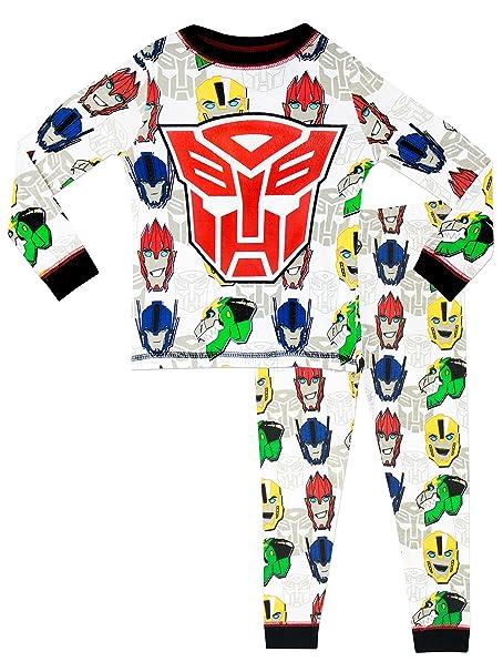 Transformers Pijama para Niños Transformers Ajuste Ceñido - 3 - 4 Años