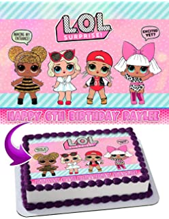Amazon Com Lol Suprise Dolls Nr1 Edible Cake Topper 7 5