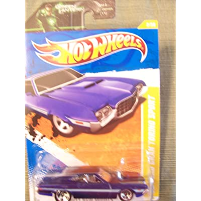 Hot Wheels 2011 New Models '72 Ford Gran Torino Sport (Purple) on Green Lantern Card: Toys & Games