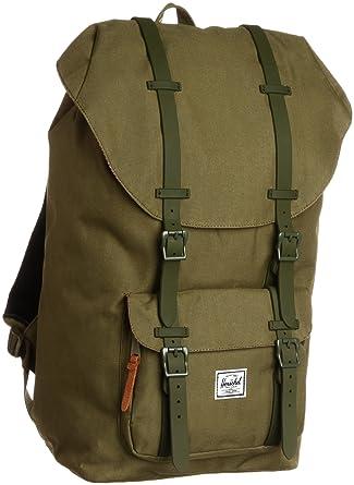 f583f4585bf5 Herschel Rucksack Laptoprucksack 15 Zoll LITTLE AMERICA grün army rubber